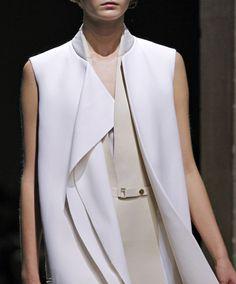 double collar. verticality. Celine
