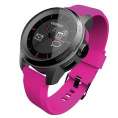 COOKOO Smart Bluetooth Connected Watch, Pink. Notifications for incoming calls, missed calls, Facebook post and messages, calendar reminders and more. Compatible with devices with Android 4.3 and 4.4 compatibility and iOS 6 and 7 with iPhone 4S, 5 and 5S. Alerts when your device is out of range, or at low battery level. Locate your phone with the press of a button from your COOKOO watch. 5ATM Water resistant and Up to 1 year of battery life for Connected Display and up to 3 years of…