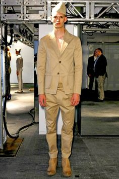 Design by Alexandre Plokhov at the  Spring/Summer 2012 menswear presentation show.