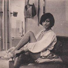 Cathy Rosier in Maud Frizon. Elle France, September 6 1971.