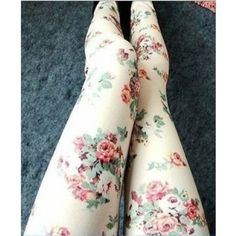Pants: lovely flowers floral floreal white rose roses nice tights cute... ❤ liked on Polyvore featuring pants, summer pants, flower print pants, floral trousers, floral print pants and white pants