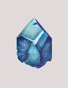 Mineral Admiration: Watercolor Paintings of Crystals by Karina Eibatova watercolor rocks posters and prints illustration geology