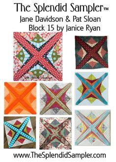 Block 15 – Family Affair   The Splendid Sampler   Bloglovin'