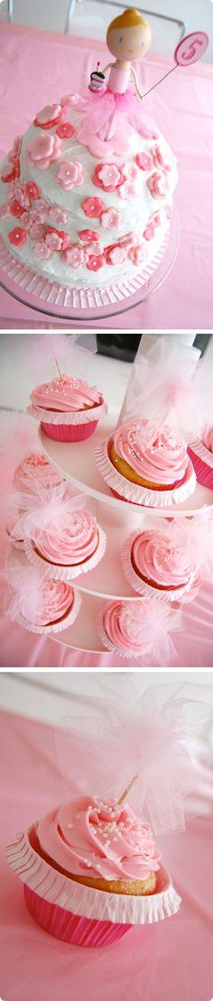 παρτυ για κοριτσια-μικρες μπαλαρινες-Γενέθλια Cake Icing, Frosting, Cupcake Cakes, Ballerina Party, Cake Tutorial, Yummy Cakes, Vanilla Cake, Sweet Recipes, Fondant