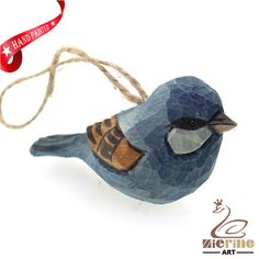 New listing! Hand-carved wooden parrot painted decorative wall carvings ZR10045 #ZL #Ornament