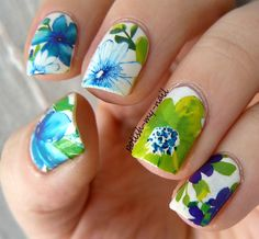 Nailpolis Museum of Nail Art | Spring flowers by Ewlyn