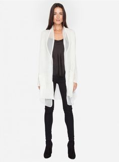 Morain Cardigan The Johnny Was MORAIN CARDIGAN embodies easy-going bohemian style. Layer the MORIAN CARDIGAN over jeans and a tee for a night out!  - Cotton Knit With Chiffon Trim - Open Draped Front, Long Sleeves - Care Instructions: Dry Clean Recommended