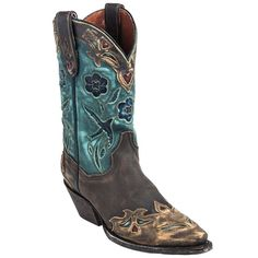 Dan Post Boots Women's Brown and Teal DP3544 Vintage Bluebird Cowboy Boots