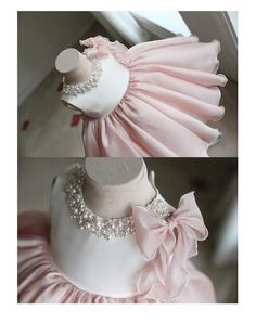 Girly Shop& Light Pink Round Neckline Pearl & Crystal Rhinestone Applique Sleeveless Big Bow Back Little Girl Party Dress Girls Party Dress, Birthday Dresses, Little Dresses, Little Girl Dresses, Baby Dress, Little Girls, Flower Girl Dresses, Dress Party, Baby Girl Fashion