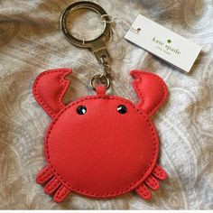 Kate Spade crab keychain new with tags New with tags key chain. Rare. Price is firm kate spade Accessories
