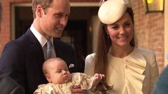 The Duke and Duchess of Cambridge with Prince George just before the christening. October 2013