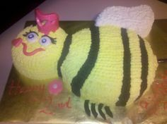 "Vegan Bumblebee ""Queen Bee"" Birthday Cake"