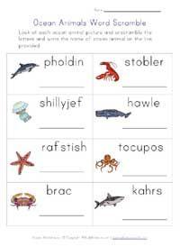 farm animals word scramble worksheet | English worksheets ...