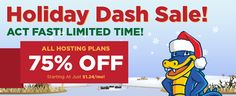 Whopping Hostgator Holiday Dash Sale – 75% Off New Hosting!