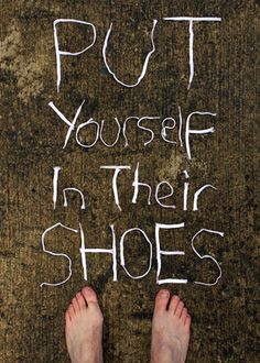 This is one of Atticus' famous quotes. He told Scout to put herself in her brother's shoes for once.