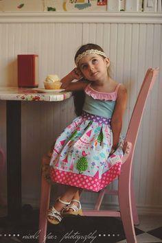 Easy Dress Pattern, Girls Dress Sewing Pattern, Tween Dress Pattern, Homegrown, Knit Woven Sewing Pattern, Easy Dress Sewing Pattern, 12m-14