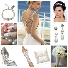 Sparkle and pearl wedding theme