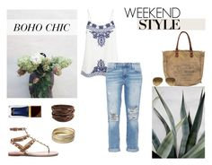 """""""Weekend Style"""" by nmkratz ❤ liked on Polyvore featuring Accessorize, Current/Elliott, Blink, Ray-Ban, Valentino, Steve Madden, Tom Ford, women's clothing, women and female"""