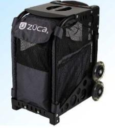 Zuca Sport Kit Black Frame & Zuzuca Pet Carrier Bag Charcoal