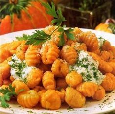 A thousand easy recipes: Pumpkin gnocchi, super simple recipe - Recetas del mundo - Recetas Veggie Recipes, Real Food Recipes, Vegetarian Recipes, Cooking Recipes, Yummy Food, Healthy Recipes, Gnocchi Recipes, Pasta Recipes, Healthy Cooking