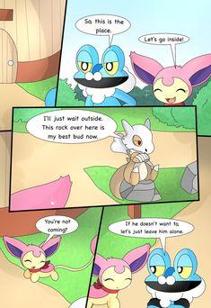 Pokemon Comics, Pokemon Fan, Pokemon Stuff, Pokemon Eeveelutions, Eevee Evolutions, Something Scary, Pokemon Pictures, Kermit, Kids Room