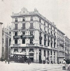 1908. Carrera de San Jerónimo esquina a Cedaceros | Flickr: Intercambio de fotos