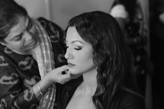 Gauhar Khan gets the final touch before she sets the stage on fire.