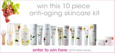 Win this 10-piece anti-aging skincare kit! -- 100% Pure Cosmetics are made using All Natural, Organic & Vegan Ingredients!