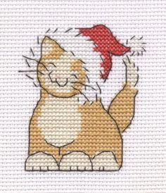 Cat cross stitch Christmas Cat cross stitch by Lil-Samuu on DeviantArtChristmas Cat cross stitch by Lil-Samuu on DeviantArt Cross Stitch Christmas Cards, Santa Cross Stitch, Cross Stitch Stocking, Cross Stitch Bookmarks, Cross Stitch Cards, Simple Cross Stitch, Cross Stitch Kits, Christmas Cross, Cat Cross Stitches