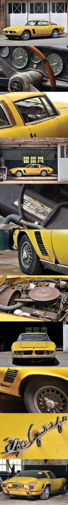 1967 Iso Grifo GL Series 1 / barfind / Giorgetto Giugiaro @ Bertone / 327 Chevrolet V8 / yellow / Italy