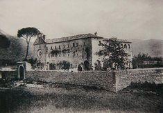 Veduta del convento di Venafro, all'inizio del Novecento; venne fondato nel 1573, accanto alla chiesa martiriale dei SS Nicandro, Marciano e Daria. In questo convento Padre Pio da Pietrelcina risiedette dal 27 ottobre al 7 dicembre 1911