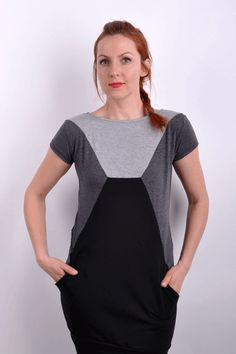 SlantiX geo grey scale top | Šaty | Ženy | SCURA E-shop Grey Scale, Colour Pallette, Geo, Outfits, Shopping, Color, Tops, Fashion, Moda