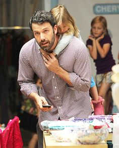 Ben Affleck takes daughters Violet and Seraphina for ice cream in Brentwood.