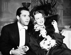 Jeanette and Henry Fonda on a date...she had broken up with Nelson Eddy and wasn't yet serious about Gene Raymond...and her ex Bob Ritchie was still hoping she'd come back to him. Busy gal!