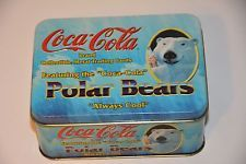 NEW SEALED Coca Cola Collectible Metal Polar Bear Trading Cards, set of 5
