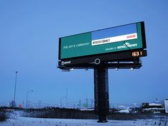 Campaign: Dynamic Colour Picker Superboard  Brand: Sico/Reno-Depot  Agency: Sid Lee To promote the range of Sico paint available at Reno-Depot hardware stores throughout Quebec, Sid Lee's recently-revealed innovation lab developed an outdoor billboard with a sensor that could detect the colour of the sky. The sensor then matched the colour to a shade of Sico paint, with the the swatch and paint name displayed on the board in real-time.