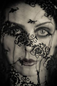 ☫ A Veiled Tale ☫ wedding, artistic and couture veil inspiration - black lace Under The Veil, Mystery, Edward Steichen, Alternative Photography, Lace Veils, Monochrom, Portraits, Models, Editorial Fashion