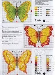 Resultado de imagen para mariposas en punto de cruz para imprimir