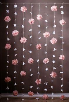 Flor de papel y papel de seda Puff Garland por KMHallbergDesign