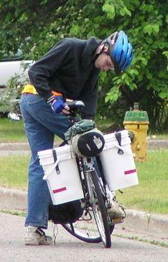 Make 4 gallon square bucket bike panniers for less than $20