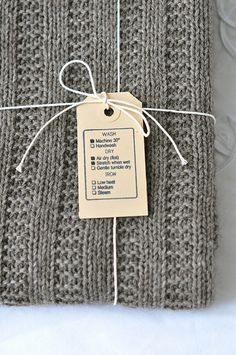 Care tags for handknits. Ravelry: SusanneS-vV's Baby Boy Blanket