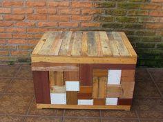 Caixa de retalhos de madeira