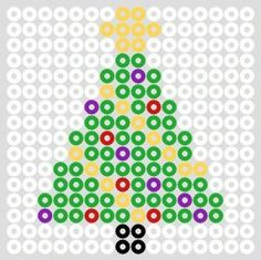 Hama perler bead Christmas lights by christeaandcakes Perler Bead Designs, Perler Bead Templates, Hama Beads Design, Diy Perler Beads, Perler Bead Art, Melty Bead Patterns, Pearler Bead Patterns, Perler Patterns, Beading Patterns