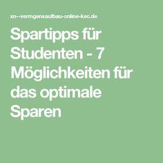 Spartipps für Studenten - 7 Möglichkeiten für das optimale Sparen