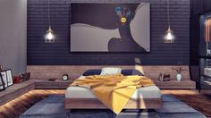 Gorgeous Dark Bedroom Designs With Minimalist and Playful Approach Themes Decor To Inspire Sweet Dreams - RooHome | Designs & Plans