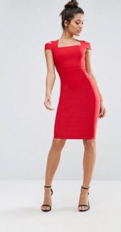 75f99b2ecf Vesper Red Bodycon Dress Size 14  fashion  clothing  shoes  accessories   womensclothing