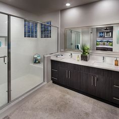 With not one sink but TWO, would this bathroom be perfect for YOU?! #california #dreambathroom #bathroom #newhome #realestate #homeoftheday #style #design #homebuilder #picoftheday #instadaily