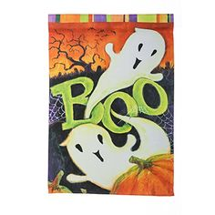 Evergreen Suede Ghostly Boo Garden Flag 125 x 18 inches * Be sure to check out this awesome product.
