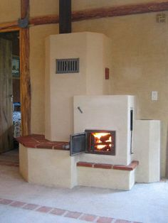 estufa de barro de inercia térmica