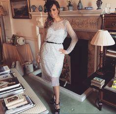 Antoinette Fionda-Douglas wearing a Bespoke 'Tesoro' gown- designed and handmade by Eleganza Sposa #MadetoMeasure #EleganzaSposa #EleganzaCollezioni #Scotland #weddings #occasionwear #eveningwear #Tesoro